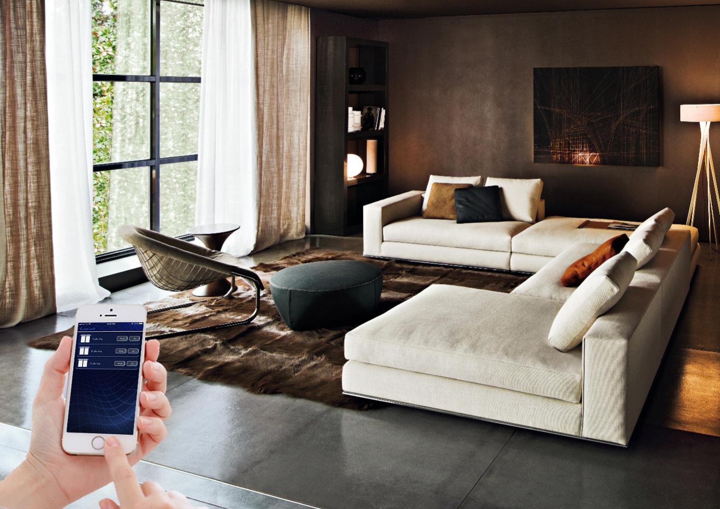 سیستم پرده برقی خانه هوشمند آلفا