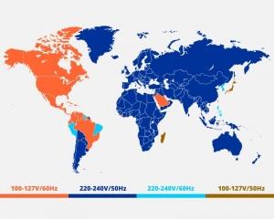 جدول مرجع استاندارد برق کشورها
