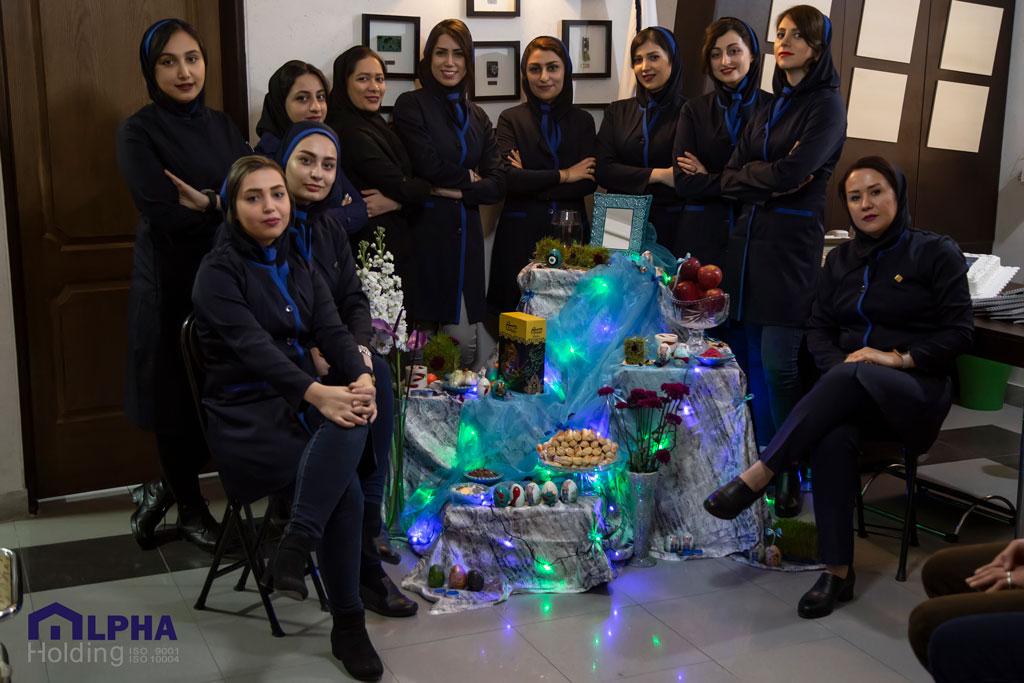 عکس دسته جمعی پرسنل اداری خانه هوشمند آلفا