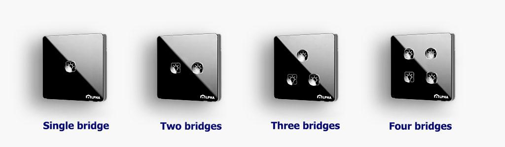 انواع کلید لمسی مدل اج